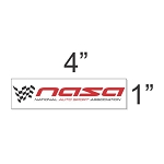NASA Racing - Small Decal (4x1)