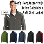 NASA Racing Logo Men's  Port Authority® Active Colorblock Soft Shell Jacket