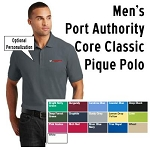 NASA Racing Logo Men's  Port Authority  Core Classic  Pique Polo