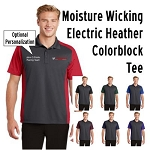 NASA Racing Logo SportTek Colorblock Micropique Sport Wick Polo Shirt