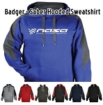 NASA Racing Logo Badger - Saber Hooded Sweatshirt