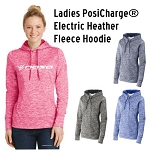 NASA Racing Logo PosiCharge® Electric Heather Fleece Hooded Pullover