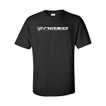 NASA Racing Logo Black 100% Cotton Short Sleeve T-Shirt