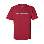 NASA Racing Logo Cardinal Red 100% Cotton Short Sleeve T-Shirt