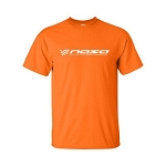 NASA Racing Logo Safety Orange 100% Cotton Short Sleeve T-Shirt
