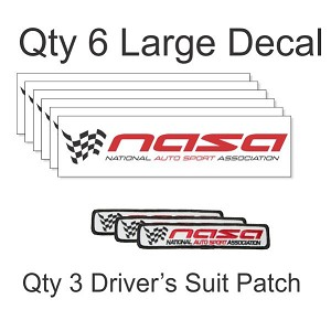 6 Decal - 3 Patch Package