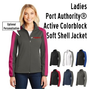 NASA Racing Logo Ladies  Port Authority® Active Colorblock Soft Shell Jacket