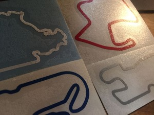 Vinyl Track Map Decals