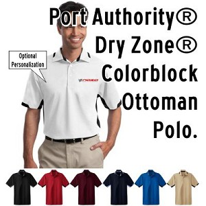 NASA Racing Logo Men's Port Authority® Dry Zone® Colorblock Ottoman Polo.