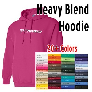 NASA Racing Logo Heavy Blend Hoodie, Choose your Color!!