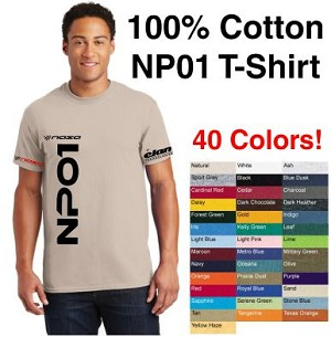 NASA NP01 Series Logo 100% Cotton Short Sleeve T-Shirt, Choose your color!