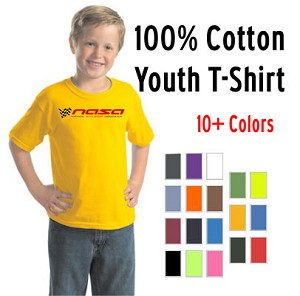 NASA Racing Logo Youth 100% Cotton Short Sleeve T-Shirt